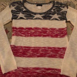 Venus American flag sweater XS